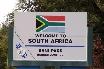 Schlagbaum folgt! Am Übergang nach Lesotho.