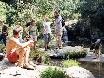 Wanderung zu den Wasserfällen, natürlich mit Kliffsprung und Baden, Baden, Baden.